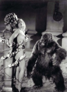 The infamously suggestive gorilla scene.