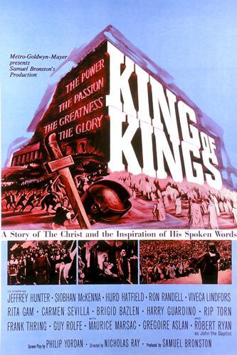 """Theatrical release poster for """"King of Kings.""""  Note the similarities to the poster for """"Ben-Hur"""" (also released by MGM)."""