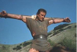 Kirk Douglas' Spartacus on the cross.